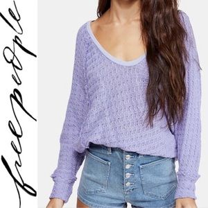 NWT FREE PEOPLE periwinkle sweater